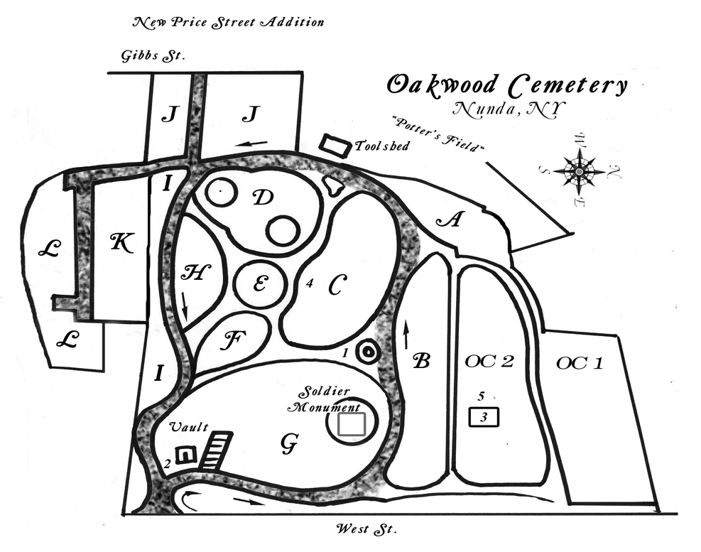 oakwood map